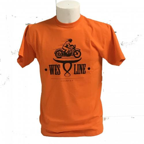 tshirt moto arancio