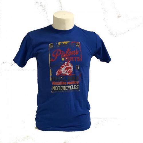 tshirt motorcycles blu